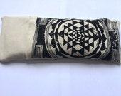 Sacred Geometry eye pillow - Organic Cotton / Yoga tool, perfect for Savasana