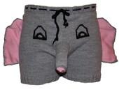 Elephant boxers, Gift for Him, Elephant Underwear, Mens Sexy Boxers Underwear, Birthday gift, Sexy shorts, sexy underwear