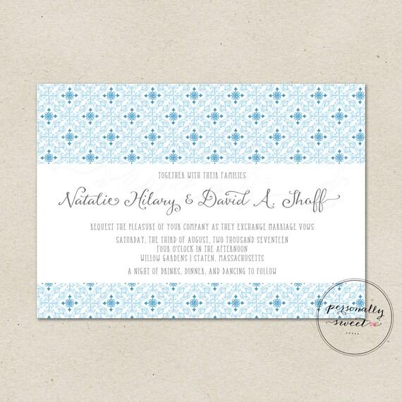 Spanish Wedding Invitations: Printable Wedding Invitation / Spanish Tile Invitation