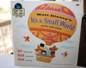 Walt Disney Record and book, It's A Small World Read Along Record, 33 Speed