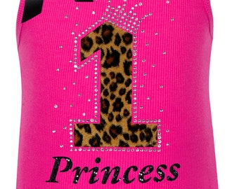 Pink Cheetah 1st Birthday Outfit Princess Party First Birthday Girls Birthday Hair bow Personalized Name Shirt Animal Print Leopard T-shirt
