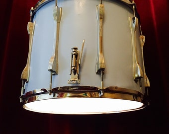 Upcycled Drum Pendant Chandelier Ceiling Light Musical Instrument