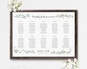 Printable Seating Chart Poster - Wedding Seat Chart PDF Download - Wedding Seating Chart Printable - Ready to Print PDF - (Item code: P012)