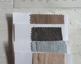 light LINEN bedding (duvet cover + pillow case), single or double in pastel