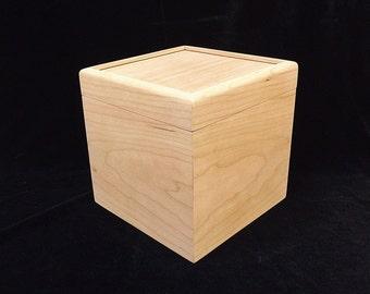 Unfinished  Wood Box w/ Hinges-6 x 6 x 6-unfinished wood box-ready to finish-engravable wood box-personalized laser engraving