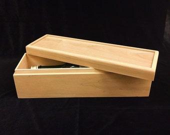 Unfinished Wooden Wine Box- Holds 1 Bottle of Wine-unfinished wood box-ready to finish-engravable wood box-personalized laser engraving