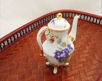 "Vintage of ""Regal"" Miniature Coffee Pot, ""Regal"" Porcelain Mini Coffee Pot, Doll House Coffe Pot"