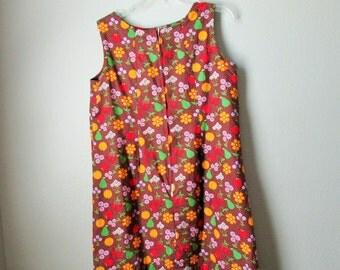 Cute Vintage Thin Cotton Floral Print Mini Dress