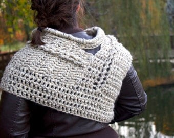 Oatmeal Cowl/Vest - based on The Hunger Games' Catching Fire Costume