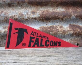 Vintage Atlanta Falcons Football Team 1970s Era NFL 11 Inch Mini Felt Pennant Banner Flag vtg Vintage Christmas Gift Stocking Stuffer