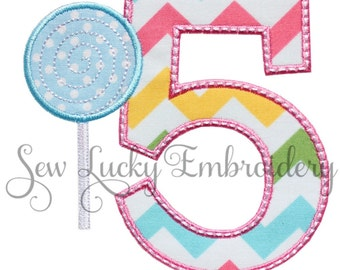 Candyland Chevron (Number of your choice) Applique Embroidered Patch , Sew or Iron on