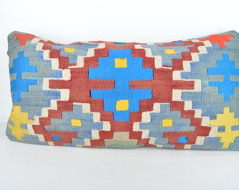 Kilim pillow, Kilim Pillow Cover k613, Turkish Pillow, Kilim Cushions, Bohemian Decor, Moroccan Pillow,  Bohemian Pillow, Turkish Kilim