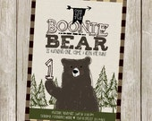 Bear Birthday Invitation/Brown Bear/