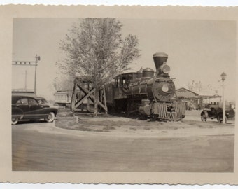 Antique Steam Train Engine Vintage Snapshot Locomotive Photo Railroad Memorabilia Railroadiana Photo Paper Ephemera