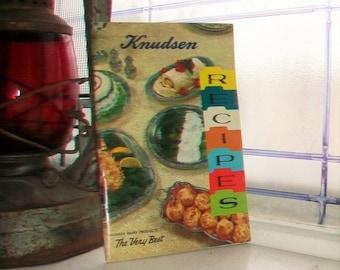 Vintage Cookbook Knudsen Recipes by Knudsen Dairy Products 1960