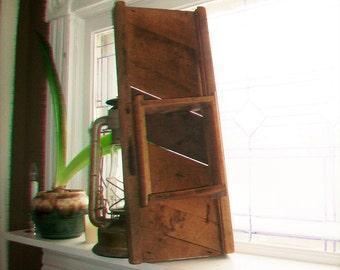 Primitive Kitchen Slicer Kraut Cutter Antique Farmhouse Decor