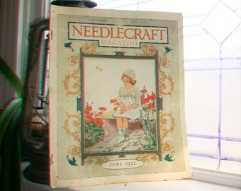 1922 Needlecraft Magazine June Issue with Large Cream Of Wheat Ad Vintage 1920s Sewing