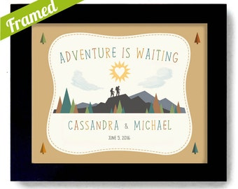 Retirement Gift for Couple Nature Lovers Couples Gift Loves the Mountains Cabin Art Move Out West Adventure Canoe Camping Hiking Unique