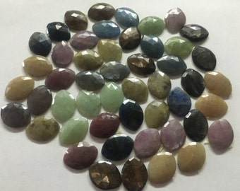 Rare Sapphire Rosecuts Weight 460 carats  Pieces 50  AAA Quality Factory prices Wholesale lot  matched pairs sapphire rosecut