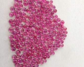 Ruby rounds cabochons size 2mm-3.5mm Weight 29.5 carats Pcs 222 superfine quality  AAAAA Natural ruby cabochons non heated non treated
