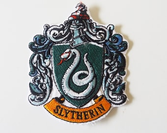 Slytherin Harry Potter Embroidered Iron On Patch