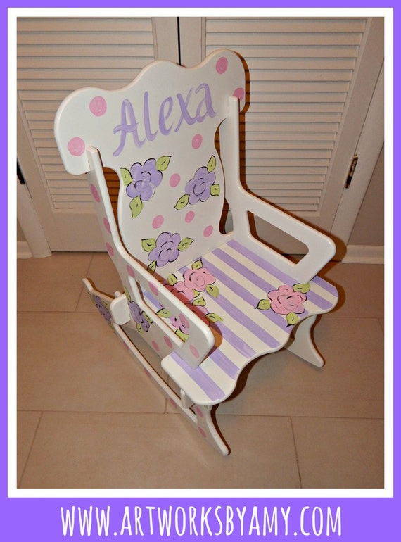 Puzzle Rocking Chair by ArtworksByAmy on Etsy