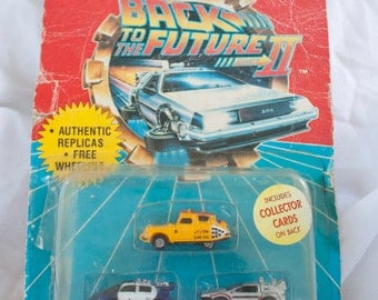 80s Back To The Future II Unopened mini cars - Vintage BTTF micro machines - Universal Studios toys