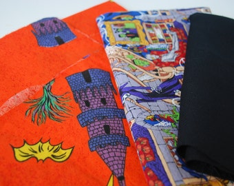 One Pound Halloween Fabric Scraps - cotton fabric