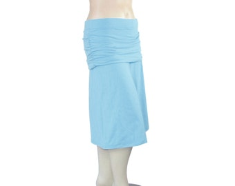 Plus Size Gauchos Wide Leg Cropped Pants-Skirted Ruched Hip Capris-Hand Dyed Bamboo/Organic Cotton-Choice of Color-XL,2X,3X,4X,5X,6X,7X,8X