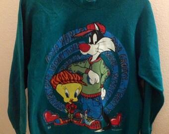 Vintage 1995 looney Tunes Tweety and Sylvester sweatshirt