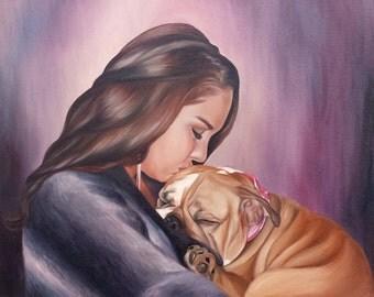 CUSTOM PET PORTRAIT - Pet Painting - Dog Painting - Oil Portrait