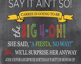 Mexican Fiesta Birthday Invitation Template