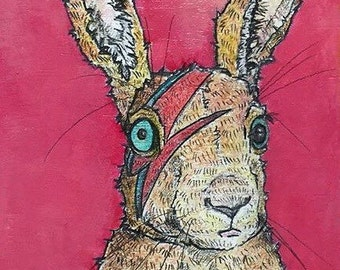 Unframed Reproduction Print of Bowie Bunny