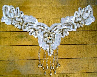 Opalescent White Sequined Appliques