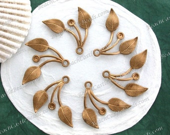 Leaves,Vintage Style,Supplies,Scrap booking,Collage,Craft Supplies,Jewelry Supplies,Made in USA,Wedding Supplies,Brass Leaves, STA-253