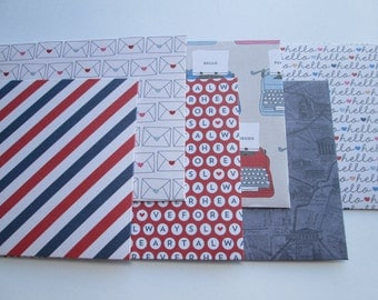 Pen Pals Envelopes, set of 6