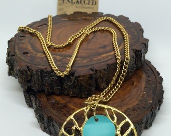 Teal Tree Necklace