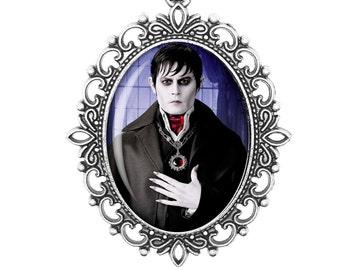 Dark Shadows Vampire Johnny Depp Tim Burton Horror Gothic Jewellery Retro Handmade Bronze Silver Large Small Victorian Cameo Necklace
