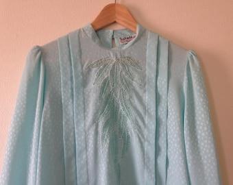 Baby Blue Suchada Vintage Blouse