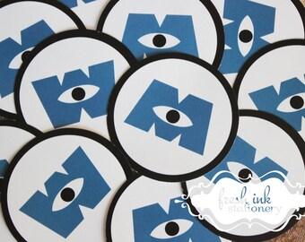 Monster Inc Company Logo Stickers