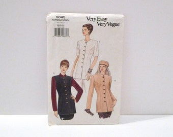 Jacket Vogue 9574 Easy Sewing Pattern Never Used uncut Size 18 20 22 Plus Size Minimalist Suit Jacket Military Inspired Princess Seams 90s