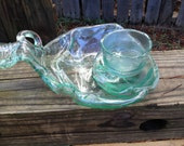 RECYCLED GALLO BOTTLE made into party bowl, chips and dip, bowl, home decor, fun party dish, wine bottle jug