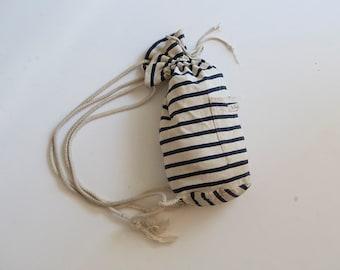 Vintage striped cotton backpack