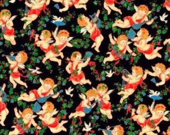 Christmas, Christmas Cherub, Stardust, Christmas Fabric, Cherub Fabric, Angels, 287237