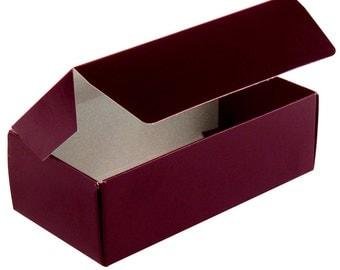 Burgundy Candy Box -  Favor Box  - Bakery  Boxes - 100  1/2 lb  Candy Boxes for Party Favors, Candy and Treats  Hoilday Favorites