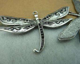 3pcs 42*75mm antique silver  dragonfly   charms pendant C3164