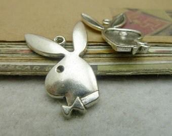 20pcs 22*30mm antique silver  rabbit charms pendant C7136