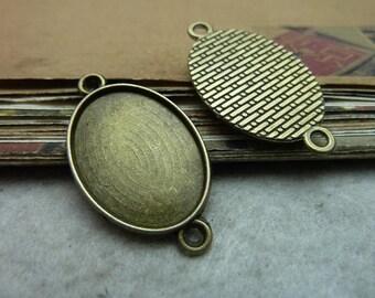 20pcs 25x18mm antique bronze cabochon pendant settings C7533