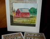 Choose Your Own Greeting - Card for Man - Happy Birthday - Happy Father's Day - Rustic - Red Barn - Farm - Original Card - ArtFromTheCabin