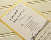 Navy and Gold Wedding Programs: Handmade Custom Bakers Twine Programs. Gold and Navy Wedding. Wedding Ceremony Program. Modern Wedding.